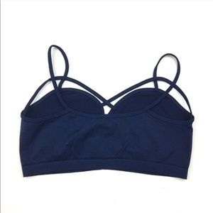 RGL Collection Intimates & Sleepwear - Navy Seamless Caged Cutout Bralette